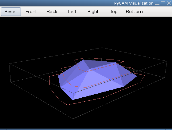 Screenshot of 3D view showing Contour (polygon) strategy