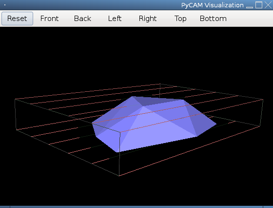 Screenshot of 3D view showing Slive removal
