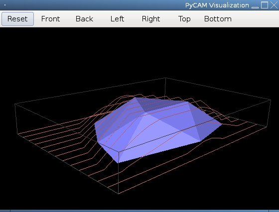 Screenshot of 3D view showing surface strategy